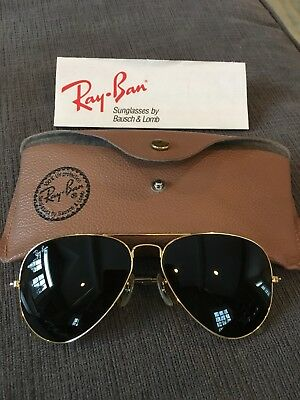 Vintage Ray Ban B&L Bausch & Lomb Classic Aviator Sunglasses with original case