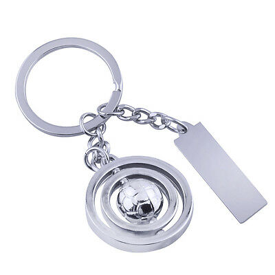 Football Rotatable Ball Keychain KeyRing Unisex Accessories Pendant Gift Present