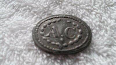 super early lead AC antique communion token western Pennsylvania area possibly