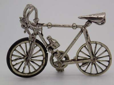 Vintage Solid Silver Italian Made Bicycle Miniature, Figurine, Stamped*
