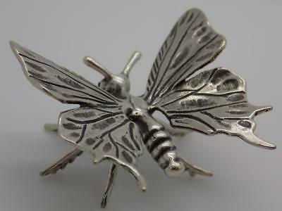 Vintage Solid Silver Italian Made REAL LIFE SIZE Butterfly, Figurine, Stamped