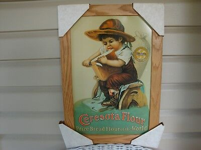 Ceresota Flour Tin Metal Sign Framed Retro Reproduction Replica Country Bakery