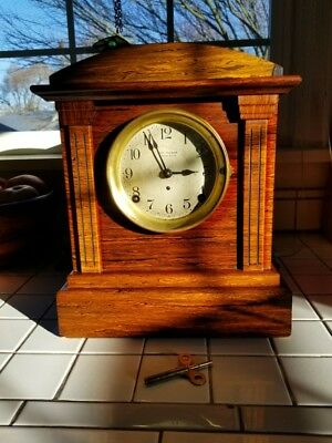 Antique Seth Thomas 4 Bell Sonora  Westminster Chime Clock Adamantine  Working