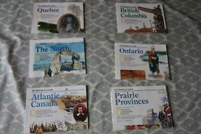 National Geographic The Making of Canada - all 6 maps - good condition
