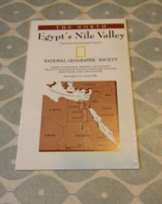 National Geographic Double Sided Map of Egypt's Nile Valley. Good Condition