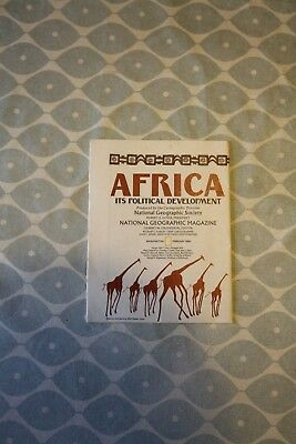1980 National Geographic Political Double Sided Map of Africa. Good Condition.