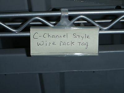 Cooler-Freezer-Wire Rack Snap-Tight Shelf Tags (100pcs) FREE PRIORITY SHIPPING!