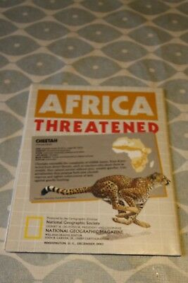 1990 National Geographic Political Double Sided Map of Africa. Good Condition.
