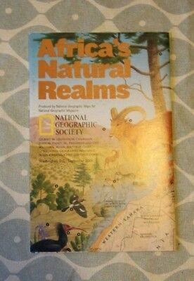2001 National Geographic Political Double Sided Map of Africa. Good Condition.