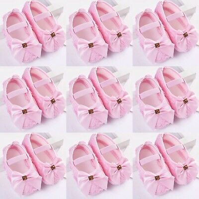 Resale Lot Of 10 Pairs 0-3 M Baby Girl's Pink Satin Dressy Shoes Wholesale