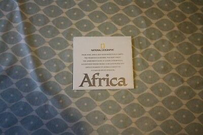 2005 National Geographic Physical Double Sided Map of Africa. Good Condition.