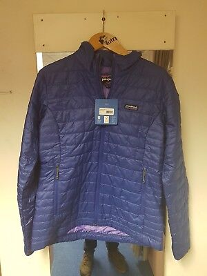 Patagonia Women's Nano Puff Jacket L Cobalt Blue New With Tags