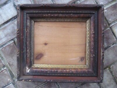 Antique Wood Picture Frame Victorian Eastlake Deep Well Shadow Box Ornate Gilt