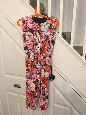 New with tags : Myleene Klass Baby K Girls floral dungarees size 2-3 years
