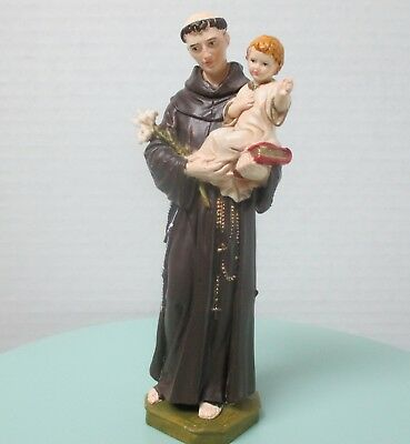 """St Anthony & ChildFigure 6 1/4"""", By Pasquini, Italy"""