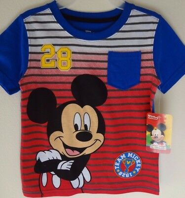 """Disney Mickey Mouse Clubhouse Shirt Size 4T """"Team Mickey 28""""  SALE"""