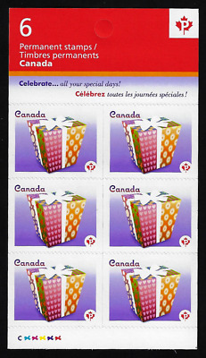 Canada Stamps - Booklet Pane of 6 - 2011, Celebration: Gift #2435a (BK446) - MNH