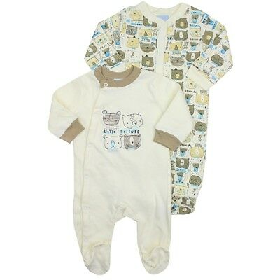 Baby Rock A Bye 2pc Cream Little Friends Sleepsuits