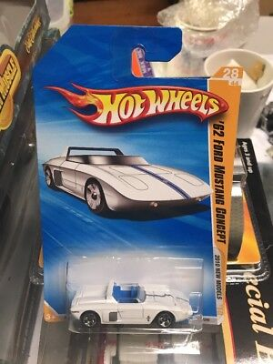 2010 Hot Wheels New Models '62 Ford Mustang Concept White
