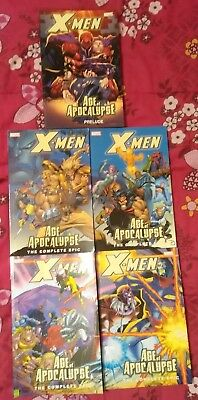 X-Men: Age of Apocalypse The Complete Epic TPB lot Prelude vol 1 2 3 4 Marvel