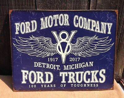 FORD MOTOR COMPANY METAL SIGN FOMOCO LOGO MUSTANG GT TRUCKS POSTER MAN CAVE