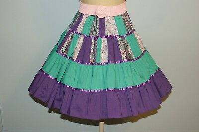 Square Dance Skirt with Belt