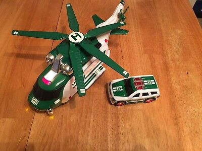 2012 Hess gasoline Search Helicopter and rescue car