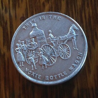 Moxie Bottle Wagon Token - Good For One Drink At The Moxie Bottle Wagon Ex Cond