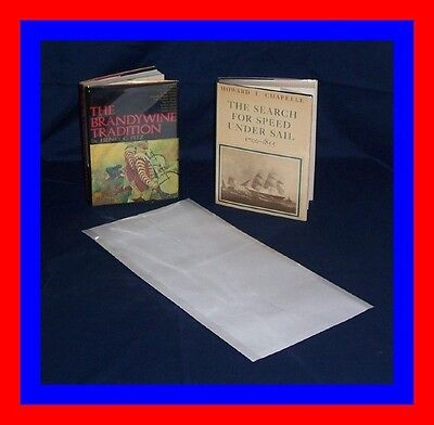 """50 - 10"""" x 23"""" Brodart ARCHIVAL Fold-on Book Jacket Covers - Super Clear Mylar"""