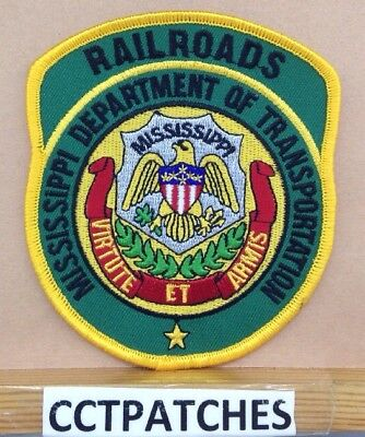 Mississippi Department Of Transportation Railroads (Police) Shoulder Patch Ms