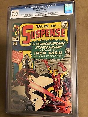 Tales of Suspense 52 Marvel 1964 CGC 7.0 OW-W Pages Black Widow First Appearance