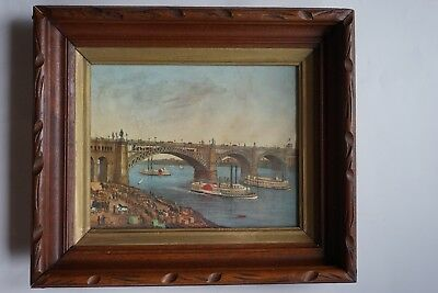 Victorian carved Wood Deep Well Picture Frame antique Eastlake