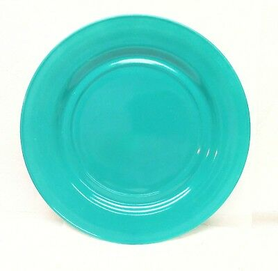 "Hazel Atlas Plate Turquoise Teal Luncheon Dinner Plate 9"" Ovide Plantonite Tempo"