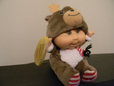 """Cabbage Patch Kids Snugglies Reindeer Baby Doll Plush 9"""""""