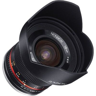 *NEW* Rokinon 12mm F2.0 NCS CS Ultra Wide Angle Lens Sony E-Mount NEX Mirrorless