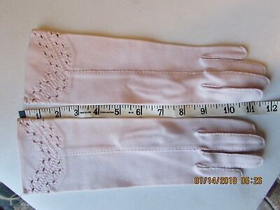 """Vintage 11 1/2"""" Barely Pink Eyelet top Hand sewn Japan size 6"""