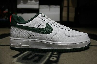 buy online ccad8 54ccb ... authentic new nike id air force one 1 low nba size milwaukee bucks size  7.5 white