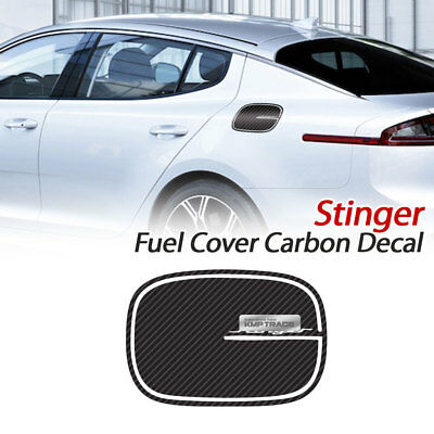 Carbon Black Fuel Cover Vinyl Cover Decal Sticker For KIA 2017 - 2018 Stinger
