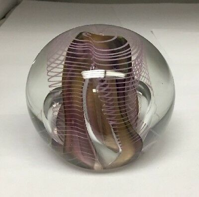 """Hal David Berger 1989 Art Glass Paperweight 2 7/8""""  Free Shipping Ex Condition"""