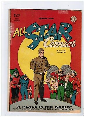 All Star Comics #27 Famous Disabled Vet Cover Wonder Woman Flash Green Lantern