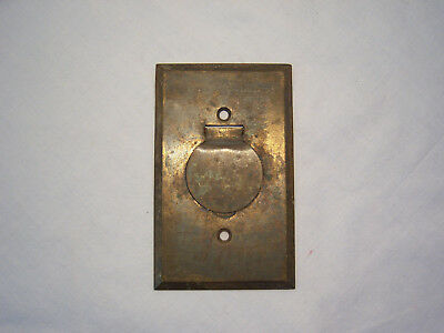 Vintage Brass Electric Plug Switch Plate Wall Antique Hardware Outlet Cover Lid