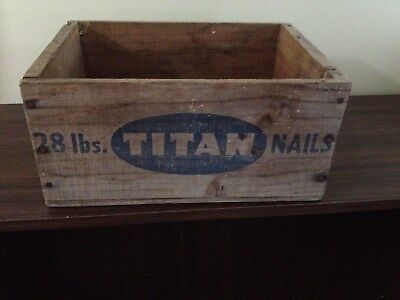 Vintage Collectable Titan 28 Lb Nail Box In Good Used Condition Very Rare