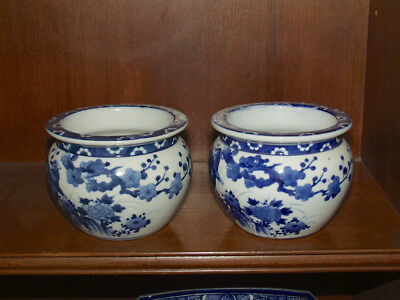 Antique Japanese Vase Set Blue & White Classic Imari Estate Sale