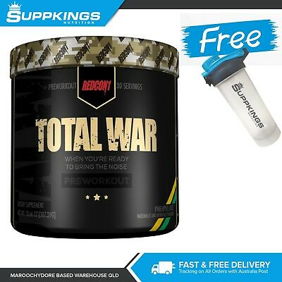 REDCON1 Total War 30 serve Pre Workout Powder PLUS FREE Shaker
