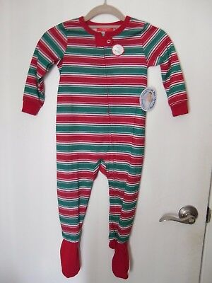 Macy's Family PJ's Size 24 Months Unisex Footed OnePiece Christmas New