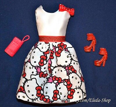 Stunning OOAK Unique Hello Kitty Dress Set for Barbie Doll