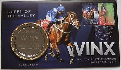 """PNC 2017 Silver Overprint Queen of the Valley """" WINX """" Medallion Mintage 2017"""