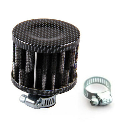 UNIVERSAL 12mm Breather Air Filter Oil Catch Tank Crankcase Vent Intake Black