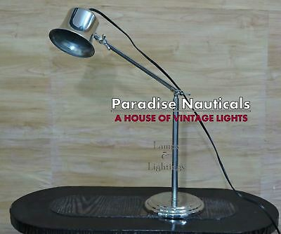 Nautical Retro Style Adjustable Nickel House of Troy Industrial Desk Lamp UK