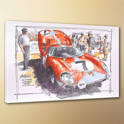HD abstract Racing Sketch Painting Canvas print modern wall decor 10x14 Unframed